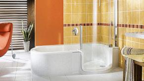 barrierefrei, altersgerecht, Bad, Dusche, Wanne