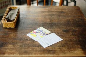 広島在住のイラストレーター、ミヤタタカシ 「えほんとえ」展カフェマルティッドにて