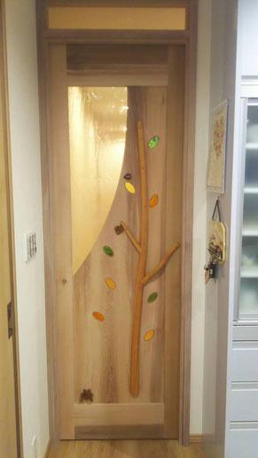 木製 室内ドア 個性的