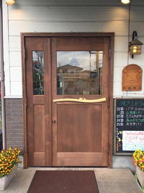 木製玄関ドア 店舗用ドア