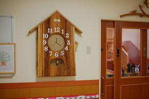 大きな時計 木製 振り子時計