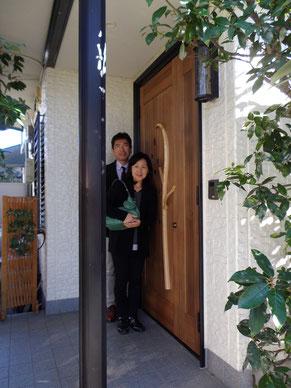 木製玄関ドア リフォーム