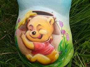 Babybauch-gipsabdruck, Malerei von Butterfly-Art Melanie Nicklisch aus Nünchritz