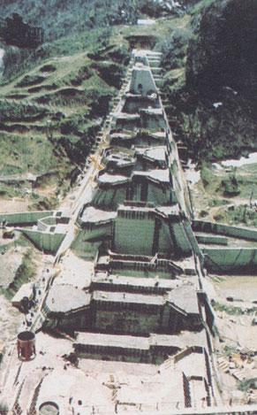 建設中の金山ダム(北海道開発局)