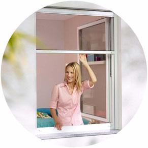 Fliegenschutzrollo für Fenster