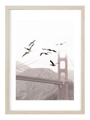 Kunstdruck, Poster, Poster Muster, Poster Ethno, Wanddeko, Wohnzimmer Bild, Schwarz Weiß Poster, Schwarz Weiß Bild