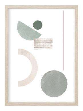 Poster Pflanze, Poster Natur, Bild Natur, Bild Pflanze Aquarell, Poster Auge, Kunstdruck