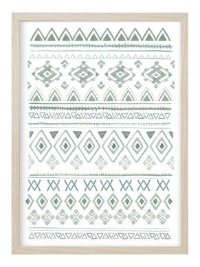 Poster, Kunstdruck, Poster Ethno, Poster Schwarz Weiß, Poster Tribal