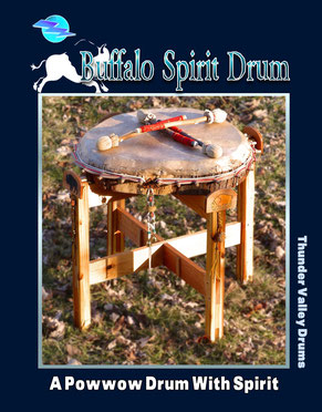buffalo spirit powwow drum from Thunder Valley Drums and Shaman Drums And More