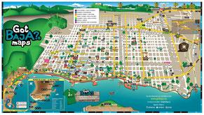 Mapa de la Paz Baja Mexico