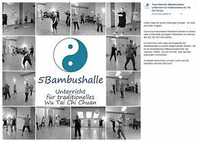 5Bambushalle - Unterricht für traditionelles Wu Tai Chi Chuan in Neuss und Düsseldorf