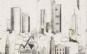 Urbane-Bilder und Stadtansichten