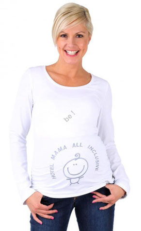 be mama! Maternity Blouse Hotel Mama - White