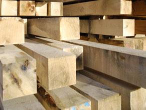 Fresh sawn oak beams, french oak beams, french oak sawmill