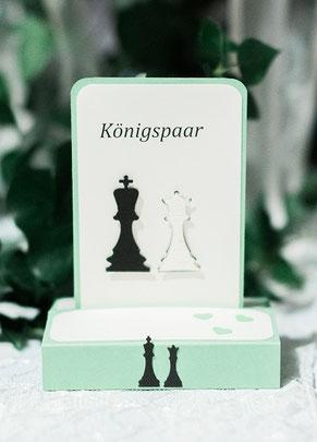 Tischdeko Schach