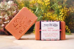 Savon saponifié à froid_Savon Calendula Géranium Mandarine Bois de hô_NaturalOhm