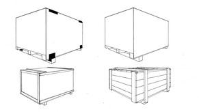 Konstruktionsvarianten von Holzkisten