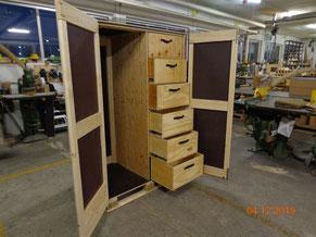 Holzkisten für den internen Gebrauch