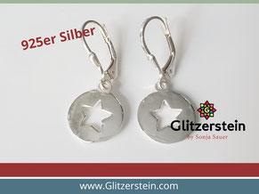 Ohrringe Echtsilber Stern