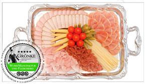 Schinken- & Salamitafel, Partyservice Grönke