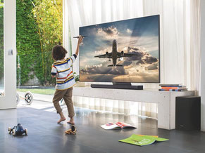 Samsung LCD und QLED TV mit Soundbarsystemen, Montage Lösungen