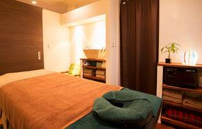 北九州市小倉南区にあるリラクゼーションマッサージ店リセッタの施術室個室