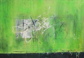 Hellgrün, Mischtechnik auf Leinwand, 75 x 110 cm, 2006