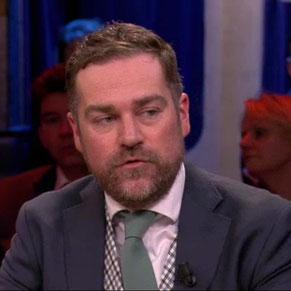 Stropdas Klaas Dijkhoff groen