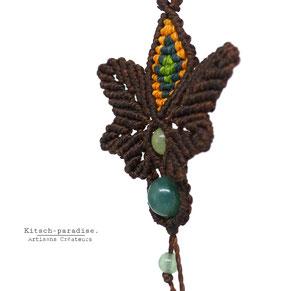 kp Kitsch-paradise artisans créateurs artiste artist créateurfrancais artisanat art bretagne  bijoux macramé micromacramé tissage weaving weavingart boucle d'oreille pierre stone