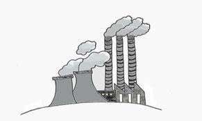 Kohlekraftwerk Abgase