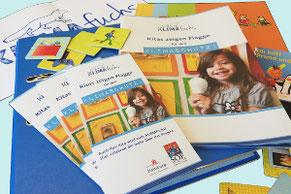 Materialien des Materialpaketes: Flyer, Handreichung, Memory