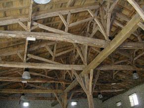 charpente du XVIIIe à Lignières-Sonneville
