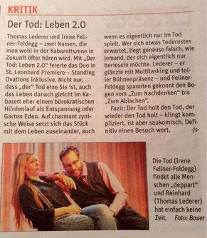 Artikel NÖN Melker Zeitung, Oktober 2016