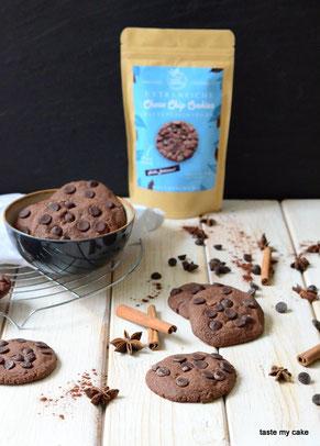 glutenfreie und vegane Backmischung mit Choco Chip Cookies