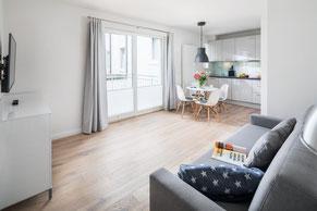 Übersicht Ferienwohnungen auf Norderney, hier: Loft C im Strandloft 2