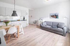 Übersicht Ferienwohnungen auf Norderney, hier: Loft A im Strandloft 2
