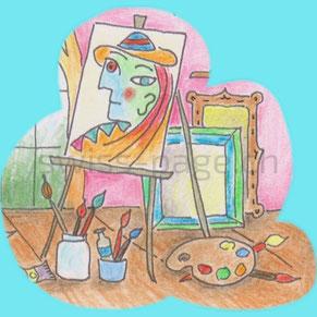 Beispiel kreative Webseite Malen