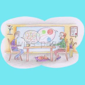 Beispiel kreative Webseite Coaching