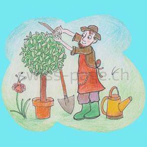 Beispiel kreative Webseite Gartenpflege