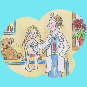Beispiel kreative Webseite Pädiatrie
