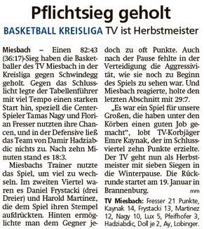 Bericht im Miesbacher Merkur am 10.12.2019 - Zum Vergrößern klicken
