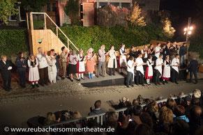 Grandios: Das Ensemble des Reubacher Sommertheaters begeisterte das Publikum. ❤️
