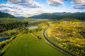 Flightseeing Neuseeland Stockmaterial Drohne mieten