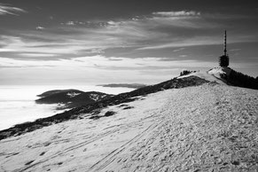 Chasseral, Jura, clouds, winter, snow