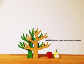 木製雑貨 木 林檎 洋梨 かわいい 北欧 ハンドメイド