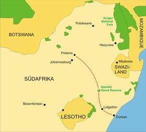 Rovos Rail Zugreise Südafrika Pretoria - Durban