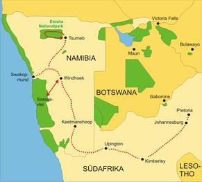 Rovos Rail Zugreise Südafrika Swakopmund-Pretoria
