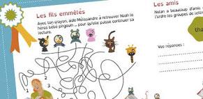 Cabochon pour des jeux illustrés réalisés par Cloé Perrotin pour l'association La Muse des Gones en 2016