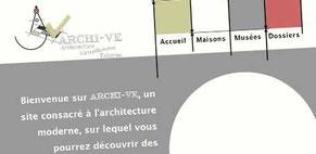 Détail d'une maquette de site d'architectes réalisée par Cloé Perrotin en formation à l'AFPA diplôme BAC+2 obtenu