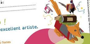 Visuel vectoriel réalisé par Cloé Perrotin pour le diplôme illustré pour l'atelier Kirigami via l'association Pré-Textes en 2016